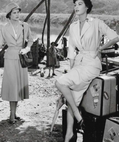 Grace Kelly and Ava Garnder in Africa shooting Mogambo, 1953