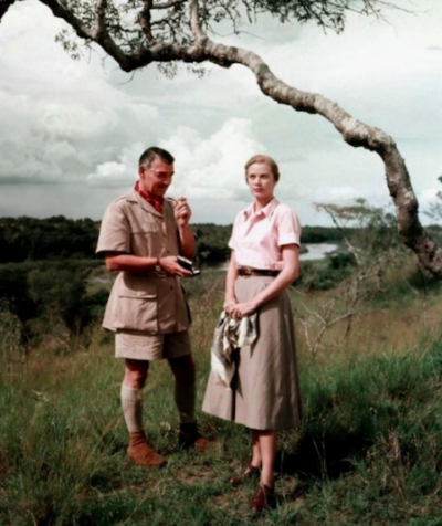 Grace Kelly and Clark Gable_Mogambo 1953
