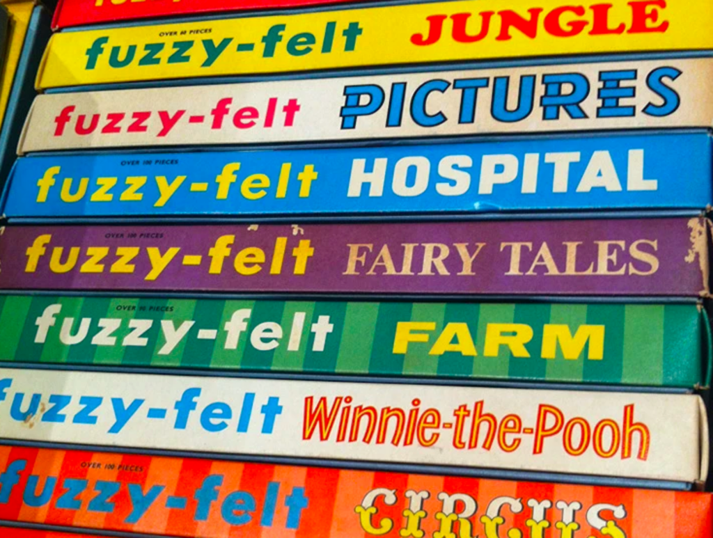 Fuzzy Felt. Image by Vintage and Nostalgia Co.