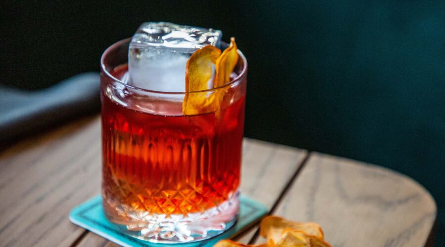 ZA ZA TA bar in Brisbane Persimmon Negroni. Ovolo Hotels